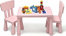GYMAX Kids Table and Chair Set, Children Activity