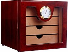 Gymqian 4 Drawers High Glossy Finish Wooden Cigar