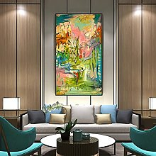Gymqian Abstract modern canvas wall art painting