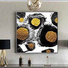 Gymqian Abstract Wall Art Canvas Print Golden