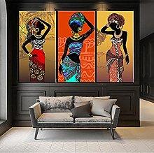 Gymqian African black girl colorful pattern print