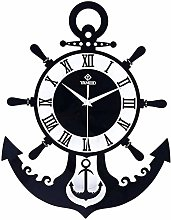 Gymqian Anchor Wall Clock Acrylic Black