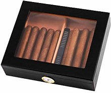 Gymqian Black Red Cedar Wooden Cigar Box (30