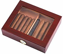 Gymqian Black Red Cedar Wooden Cigar Box (30Pcs