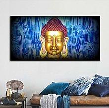 Gymqian Canvas Art Painting Buddha Abstract Wall