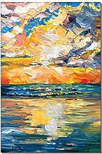 Gymqian Canvas art Print Abstract Colorful Sunset