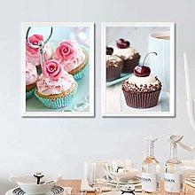 Gymqian Canvas Painting Art Print Cute Dessert