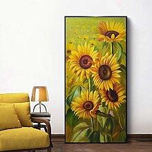 Gymqian Canvas Paintings Modern HD Print Sunflower