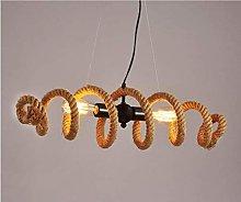 Gymqian Ceiling Light Loft Hemp Rope Candlestick