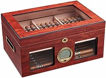 Gymqian Cigar Cedar Wood Moisturizing Box Humidor