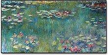 Gymqian Claude Monet Water Lotus Canvas Paintings