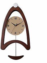 Gymqian Clock Mute Creative Hand Wall Bedroom