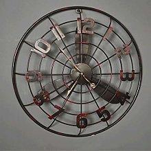 Gymqian Clock Retro Fan Wall Decorative Wall Bar