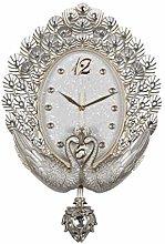 Gymqian Clock Wall-Mounted Wall 20 Inches Pendulum