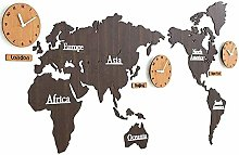 Gymqian Creative DIY Sticker World Map Wall Clock