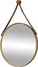 Gymqian Decorative Hanging Mirror, Round Hanger