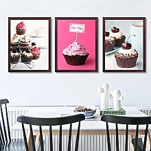 Gymqian Dessert Canvas Painting Art Print Cute