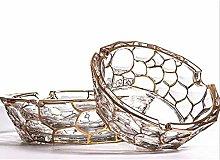Gymqian European Crystal Glass Ashtray, Spiral