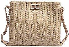 Gymqian Female Straw Braided Bag Beach Bag