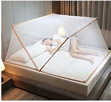 Gymqian Folding Mosquito Net Tent for Bed