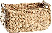 Gymqian Hand Made Wicker Willow Basket Basket
