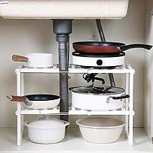 Gymqian Kitchen Accessories 2 Tier Expandable