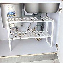 Gymqian Kitchen Accessories Under Sink 2-Tier