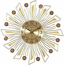 Gymqian Kitchen Sunburst Wall Clock,Modern