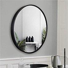 Gymqian Large Round Wall Mirror Black Framed