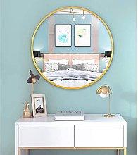 Gymqian Large Round Wall Mirror Gold Framed Mirror