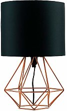 Gymqian Modern Copper Metal Basket Cage Stytablamp