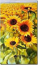 Gymqian Modern HD Print Sunflower Canvas Paintings