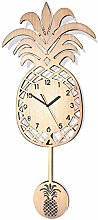 Gymqian Modern Pine Wall Clock with Pendant