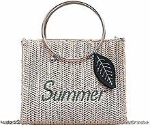 Gymqian Ms Straw Carrybag Carry Basket Fashion