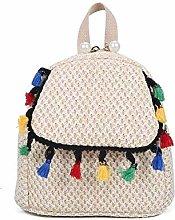 Gymqian Ms Woven-Straw Shopping Bag Carrybag Beach
