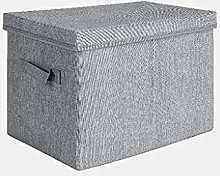 Gymqian Ox Cloth Storage Box with Lid and Handle,