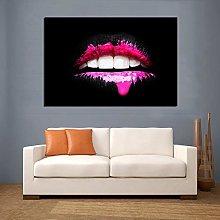 Gymqian Pink Lips Modern Decorative Painting Wall