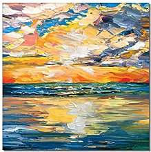 Gymqian Print On Canvas Abstract Colorful Sunset