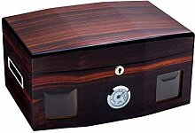 Gymqian Red Cigar Humidor Cabinet Storage Box