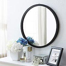 Gymqian Round Glass Wall Mirror Art, Bathroom