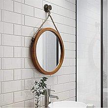 Gymqian Round Glass Wall Mirror Art, Door Hanging