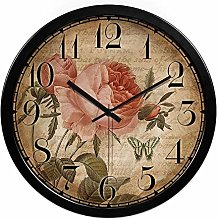 Gymqian Simple Antique Wall Sticker Wall Clock