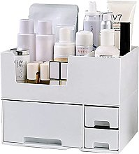 Gymqian Stackable Makeup Organizer with Drawers,