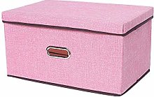 Gymqian Storage Box Fabric Storage Box with Lid