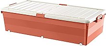 Gymqian Storage Box with Wheels Under The Bed,