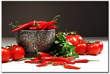 Gymqian Tomatoes And Peppers Wall Art Canvas Print