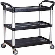 Gymqian Trolley Mobile Dining Cart Three-Tier