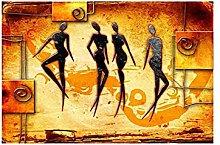 Gymqian Vintage Ethnic African Women Dancing
