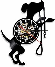 Gymqian Wall Clock 1 Cute Dog Animal Vinyl Wall