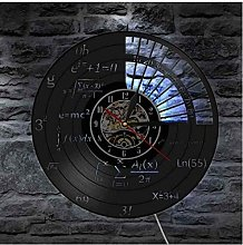 Gymqian Wall Clock Mathematical Equations